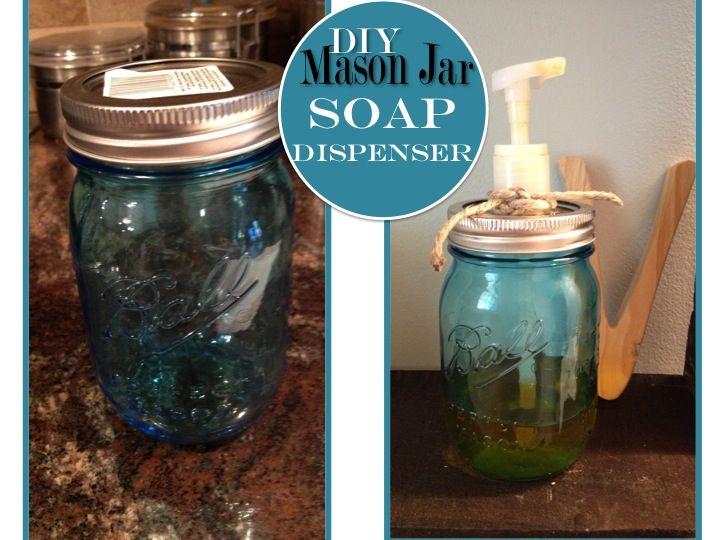Two It Yourself: DIY glass bottle or mason jar soap dispenser