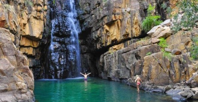 The Top End is perfect for swimming in pristine water holes.