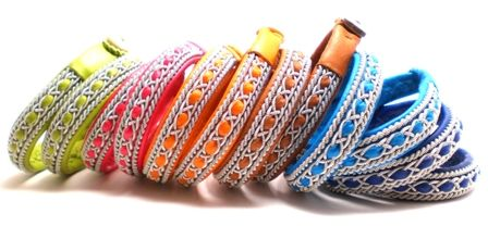 #Leather #bracelets in happy colors! from AC Design