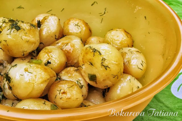 Солнечный блог: Молодой картофель, жареный в кастрюле