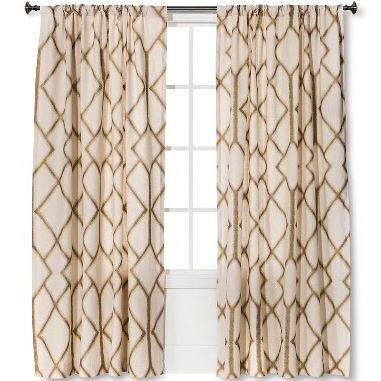 Threshold -- Metalic Curtain Panel. Ordered 8 of these for my living room! People will be seeing hues of gold when they leave our house lol