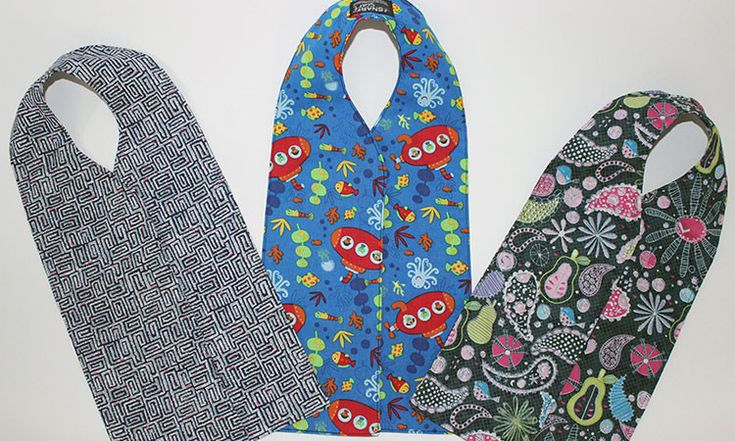 The SnarfScarf® is NOT your grandma's bib, but she'll look good in one! The SnarfScarf® is dignified, discreet, patented, and great for kids too!