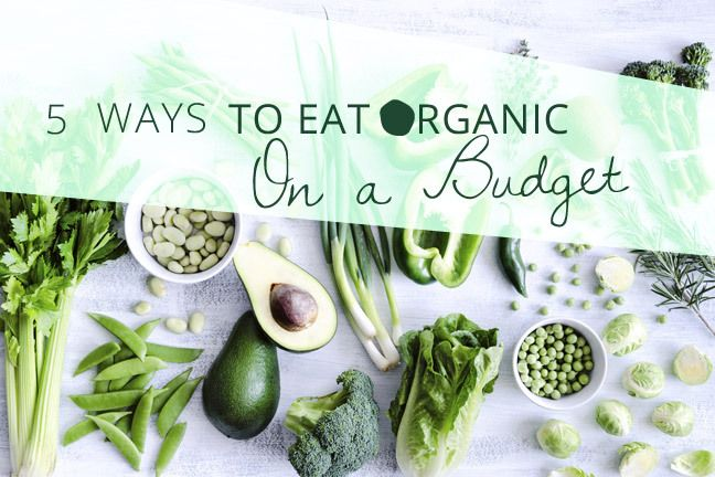 Eating organic on a budget is possible if you pick and choose the right things to buy organic.