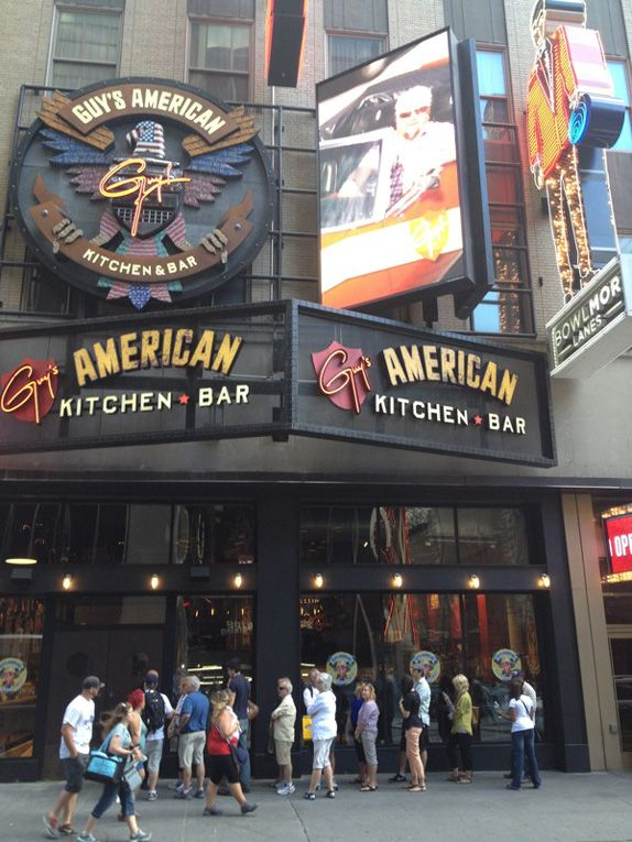 Guy's American Kitchen and Bar Logo  NYC, Family loved the food Nov 2012