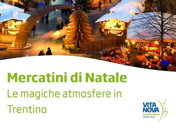 Alla scoperta delle antiche tradizioni del Natale alpino: una vacanza incantata, fatta di luci, profumi, sapori e colori ...un'atmosfera magica che vi accompagnerà durante il periodo delle feste lungo gli incantevoli percorsi dei Mercatini in Trentino
