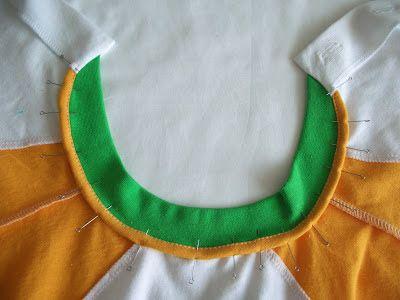 МК обработка горловины футболки трикотажной бейкой