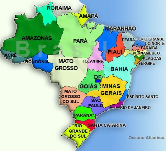 O mapa do nosso Brasil é assim !!!