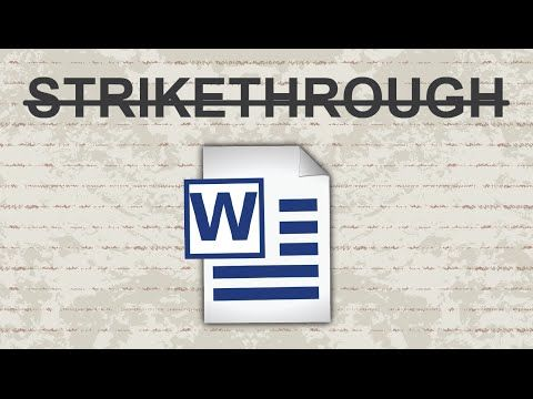 Strikethrough in Word - 2015 - YouTube