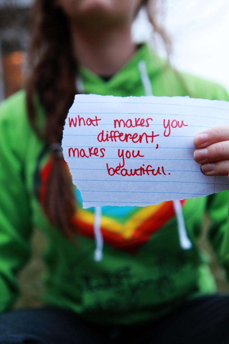 Different=Beautiful.