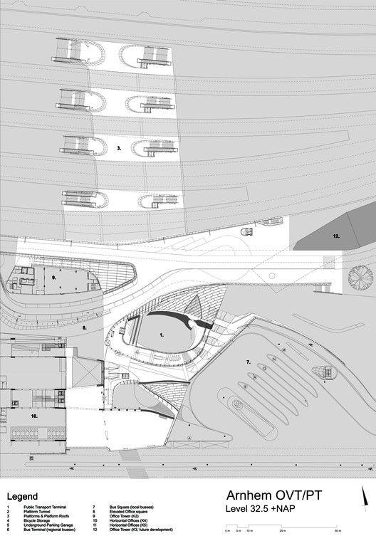 Arnhem Central Transfer Terminal,Floor Level +32.5mts