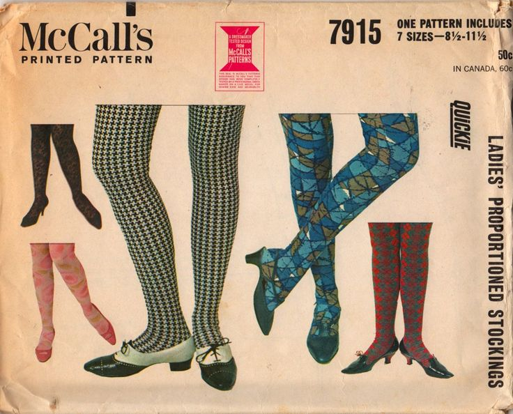 McCalls 7915 1960s Ladies Stockings Sewing Pattern 7 Sizes UNCUT | PatternGate - Craft Supplies on ArtFire