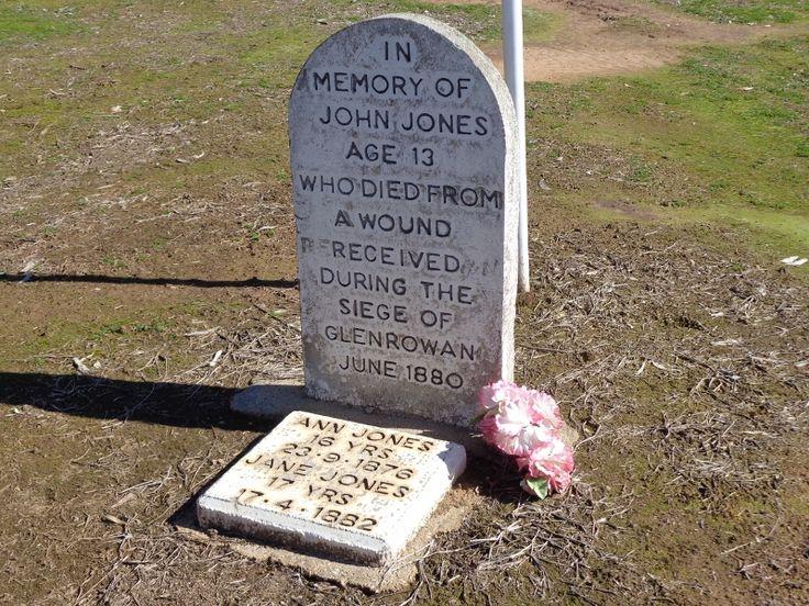 Jack Jones, son of Anne Jones died from a gun shot at Glenrowan. Jane Jones, daughter of Anne, flirted with the gang, she died the following year from an illness. Wangaratta cemetery