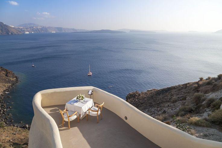 Private alfresco dining above  dramatic vistas