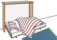 Bauanleitung Klappbett für kleine und schmale Zimmer