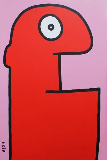 'Red Head' by Thierry Noir.