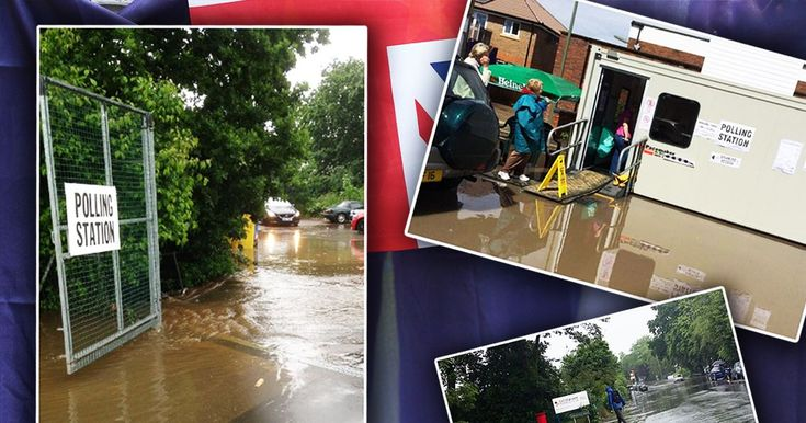 #Chaos as #polling stations #flood...