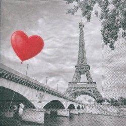 Serviett, 33x33 cm - City of love