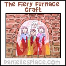 Shadrach, Meshach, and Abednego in a Fiery Furance Bible Craft from www.daniellesplace.com for Children's Sunday School
