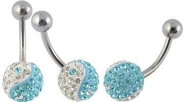 Nádherný piercing do pupíku PBSW00060 s krystaly v dvoubarevné kombinaci! http://www.piercingate.cz/piercing-do-pupiku-s-krystaly-pbsw00060