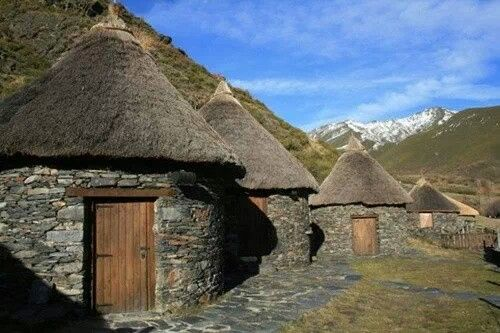 Pallozas (ancient celtic houses) in Os Ancares (Lugo) Spain