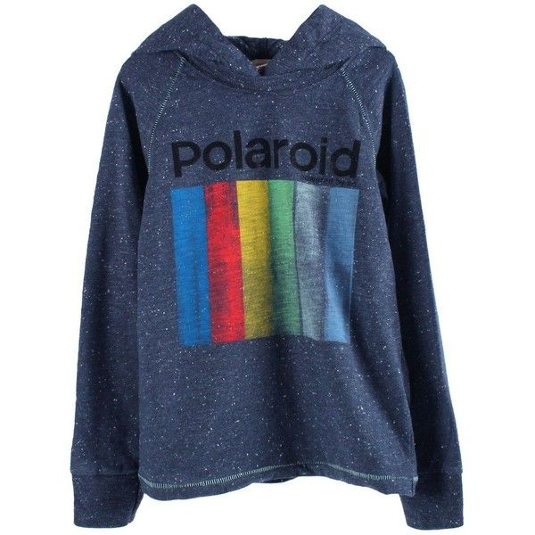 American Outfitters POLAROID Hooded sweatshirt ($37) ❤ liked on Polyvore featuring tops, sweaters, jumpers and hoodies