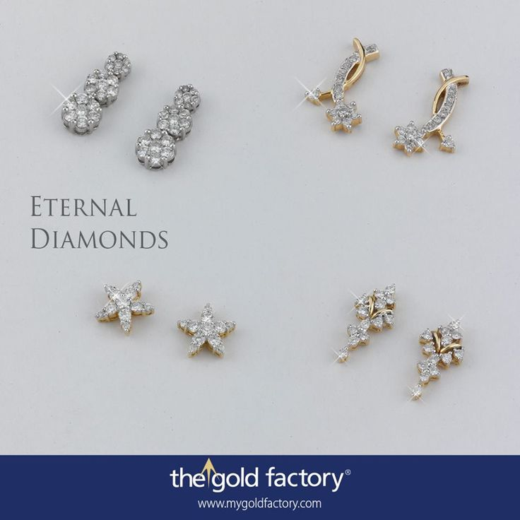 Starfish, clusters, princess settings...have them any which way you want. Our extensive range of earrings from the Eternal Diamonds collection not only sate your thirst for stylish diamond accessories but also make you shine in surprisingly different ways.  With NO MAKING CHARGES through August, these certified brilliant-cut diamond and 18K gold sparklers are now available at prices that are guaranteed to make you fly into the night with glee.
