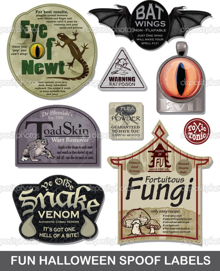 halloween label templates