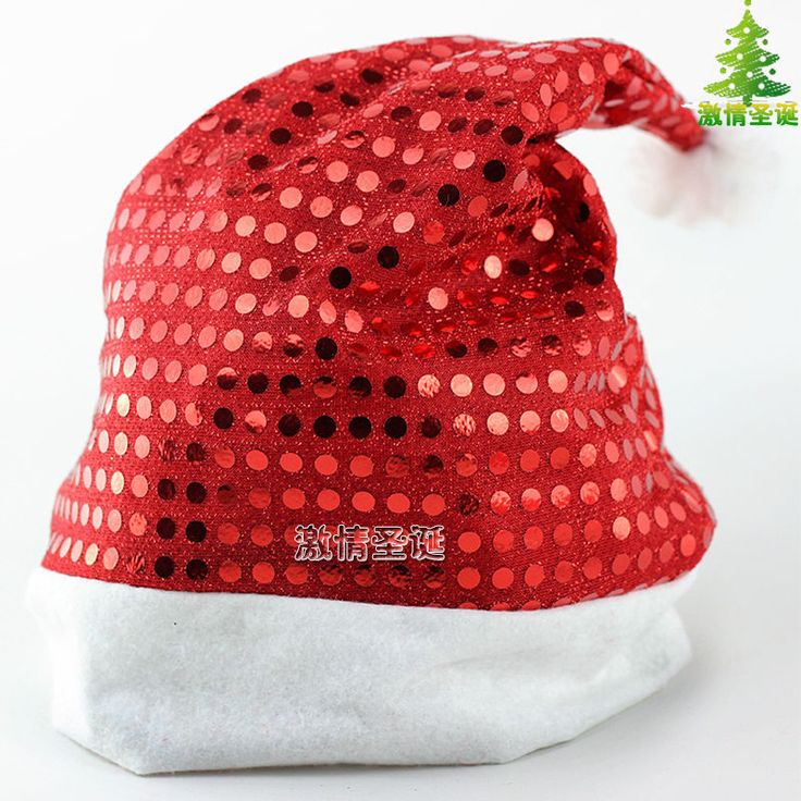 (Buy Two Sequins Get One Embroidery Free)Non-woven Fabrics Sequins Christmas Hat #Handmade