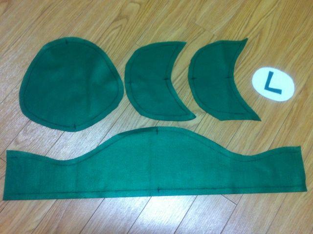 第2弾☆ルイージの帽子とヒゲの作り方 手順|1|帽子|ファッション小物|ハンドメイドカテゴリ|ハンドメイド、手作り作品の作り方ならアトリエ