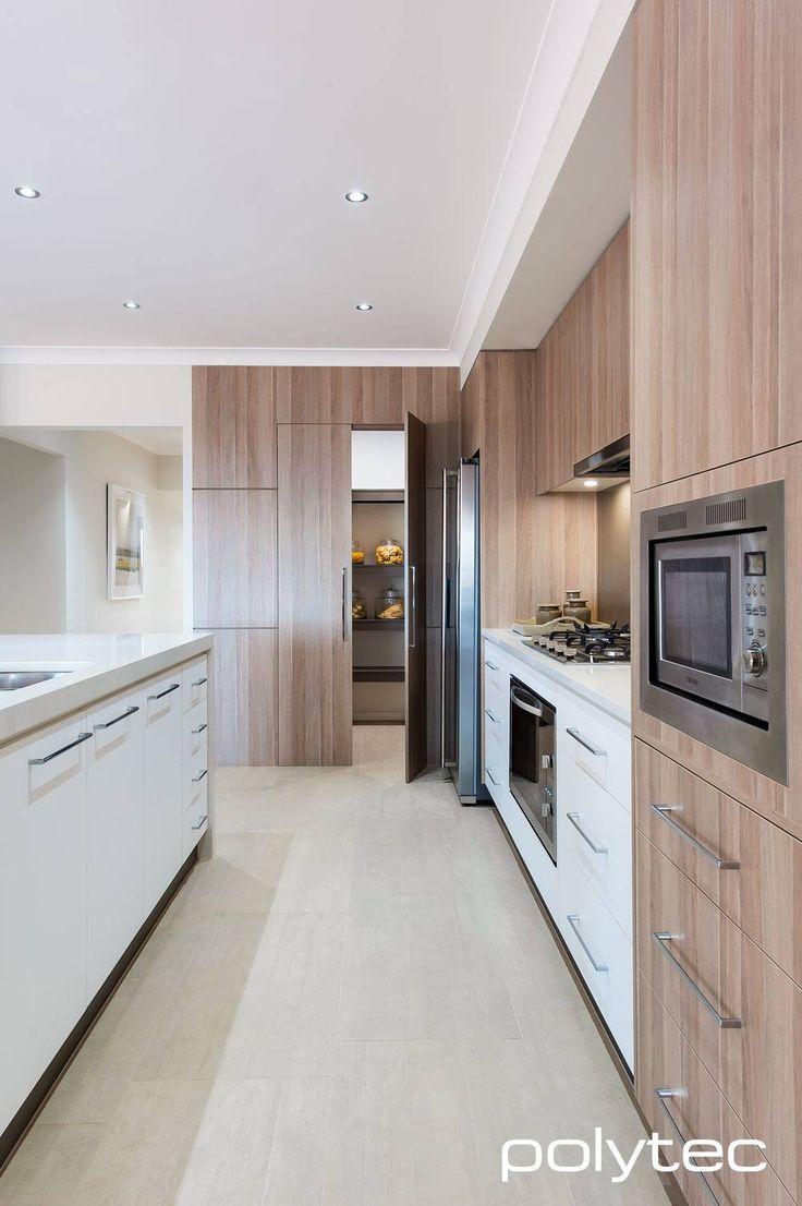 Createc doors in new ultra white gloss doors and panels in maison oak ravine