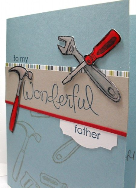 It's Father's Day today here in Australia, so today's tips are about one of our blokey stamp sets: Totally Tools. There are 5 stamps in this set, each with a different tool and witty sentiment.  Sometimes I like to use my image stamps separately from the words, and although there are a few techniques … … Continue reading →