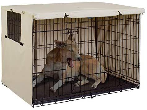 Explore Land Dog Crate Cover Durable Polyester Pet Kennel Cover