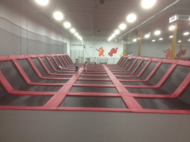 Extreme trampoline, I've been to the one in Schaumburg IL  it! :+)