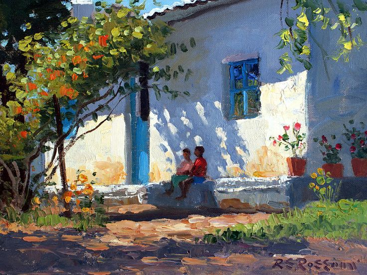 Sitting In The Shade Painting by Roelof Rossouw