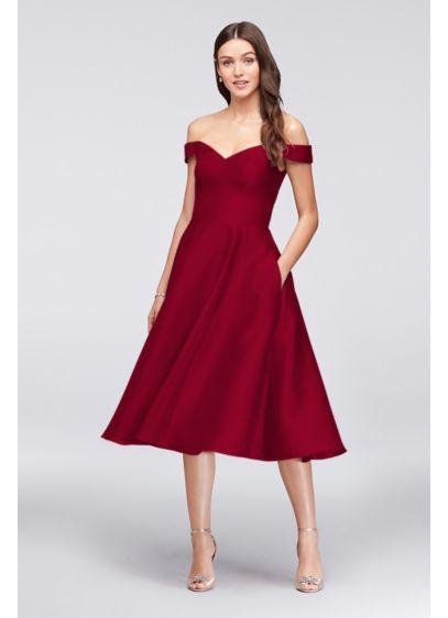Best 25 tea length bridesmaid dresses ideas on pinterest for Medium length wedding dresses