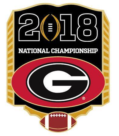 2018 College Football National Championship Pin - Georgia