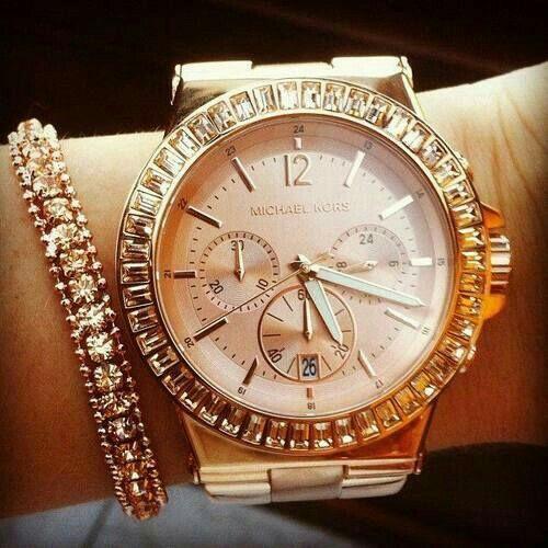 b894b7177117 NWT New Michael Kors Women Oversize Dylan Rose Gold Glitz Watch  Relojesecuador