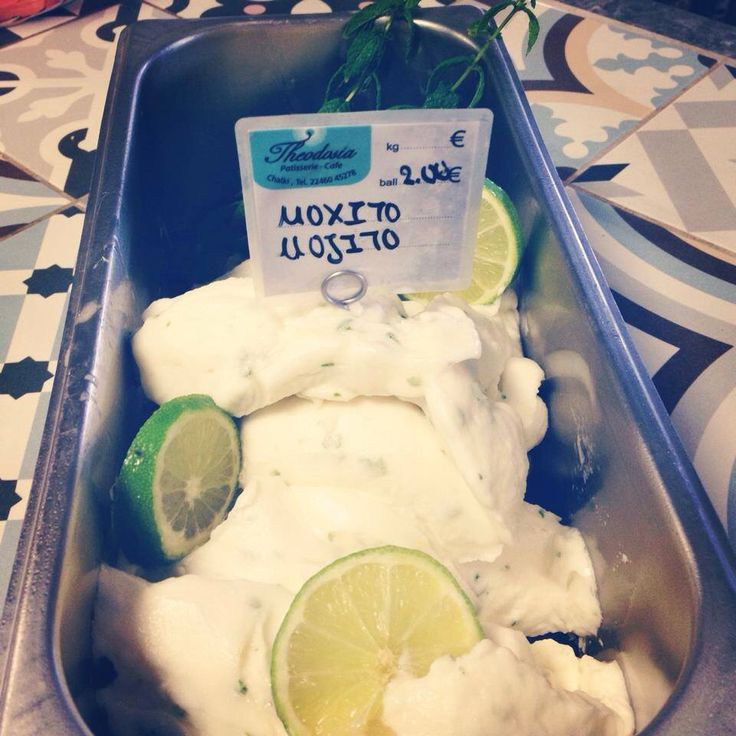 Mojito sorbet from THEODOSIA cafe bar and pastries!!!!