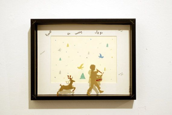 Little Drummer Boy and dear by didiBliss on Etsy, €75.00