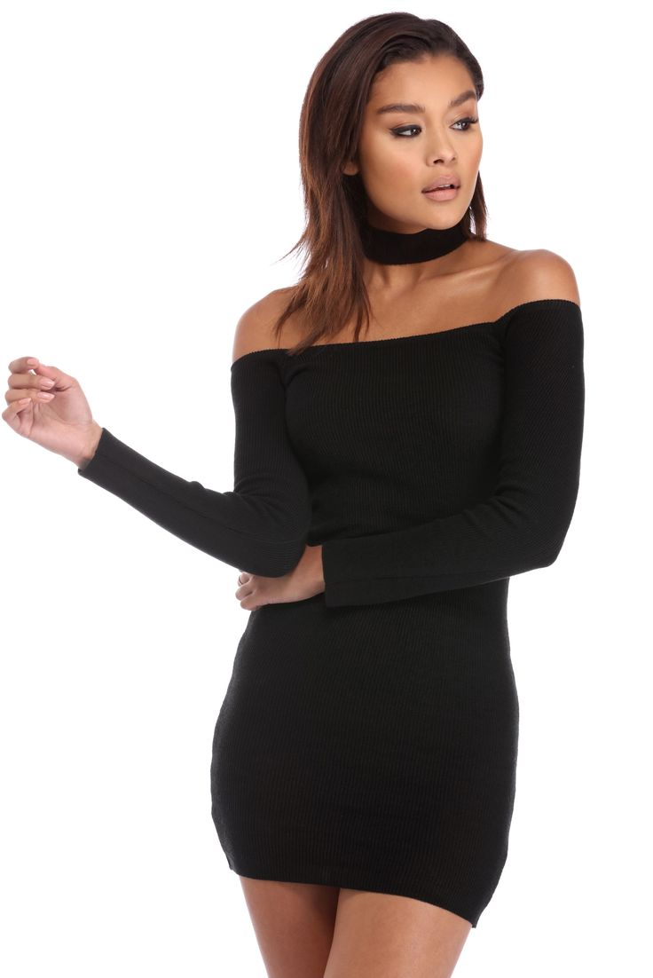 Black Hold Me Down Dress