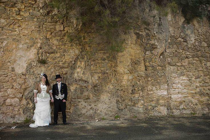 Old rock wall makes a fabulous backdrop