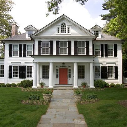 Best 19 colonial style homes images on pinterest for Front doors for colonial homes