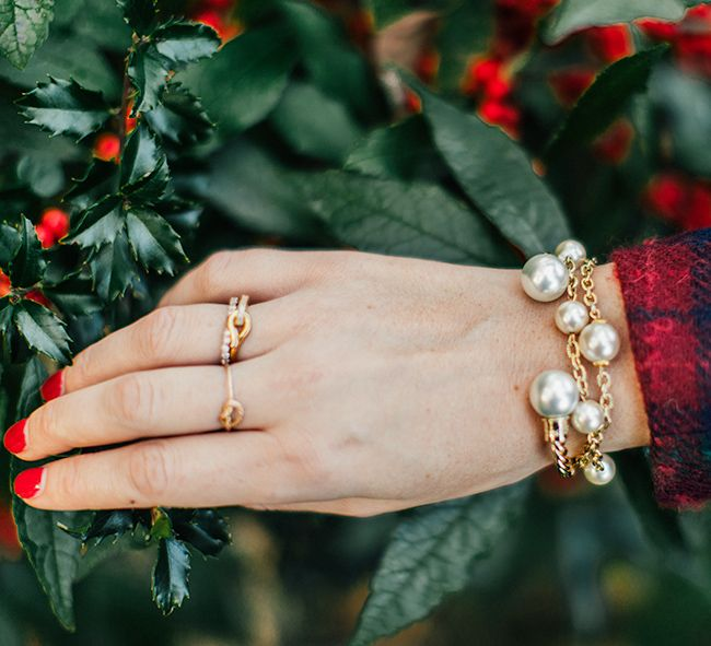Kiel James Patrick pearl bracelets