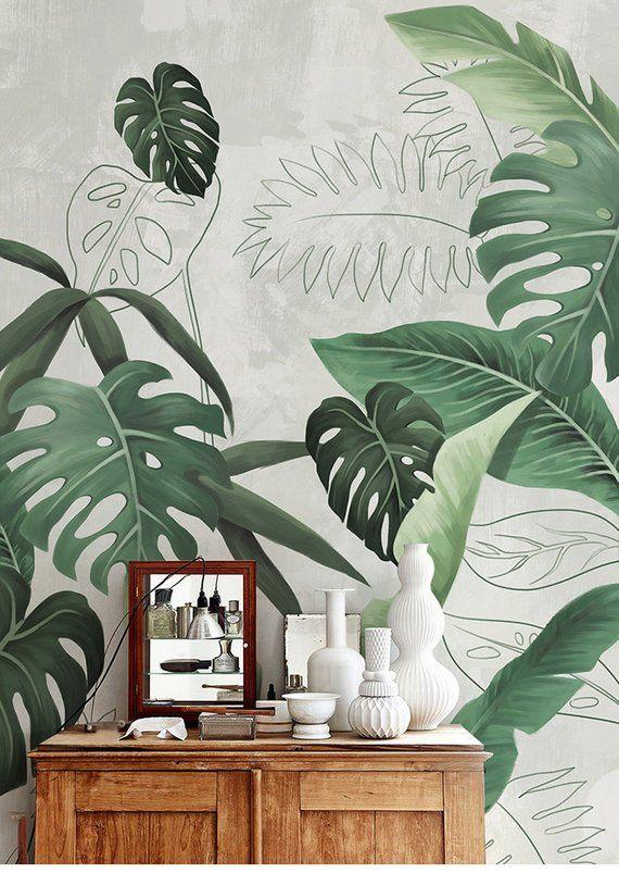 Southeast Asian Rainforest Plant Wall Murals Wall Decor