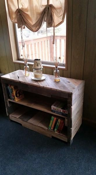 Rustic book shelf made of pallets. Dimensions are 36x24x12. (can be made to fit your needs...pricing may vary) Free Shipping! For customer pick up use discoun