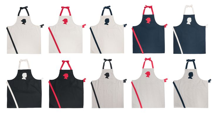 Our customized, handmade, organic cotton aprons.