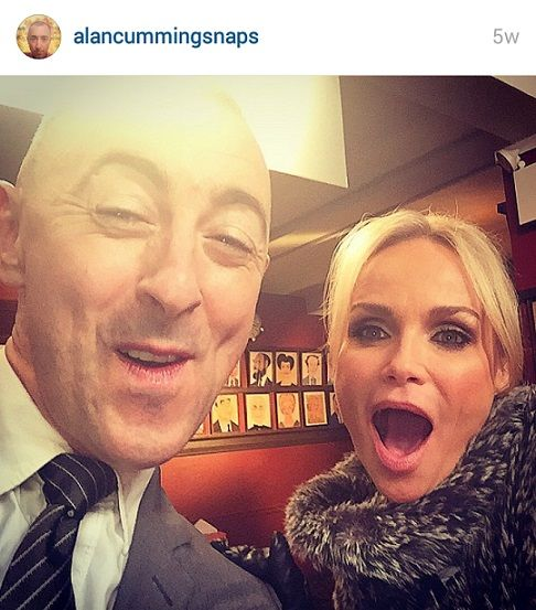 We're excited for the Tony Awards tomorrow! #Throwback to when co-hosts of the #TonyAwards Alan Cumming and Kristin Chenoweth took a #selfie together with the #LuMee Case!