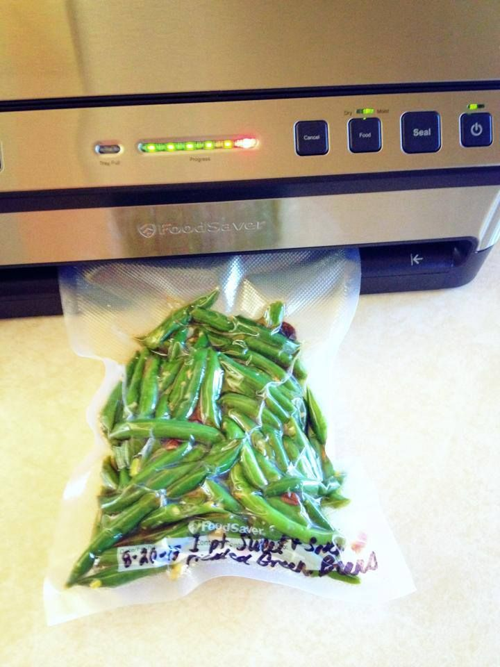 Vacuum-sealed Freezer pickled Green Beans.