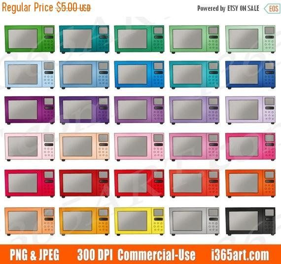 50% OFF Microwave Clipart, Microwave Oven Clip Art, Kitchen Appliances, Cooking, Planner Sticker Icons, Digital PNG, Commercial by I365art