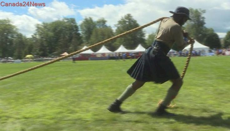 Scottish hammer throw, a crowd favourite at Montreal's 40th Highland Games